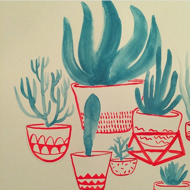 Sketchbook inspiration: aloe and succulents by @dirtandhoney #AllSwell