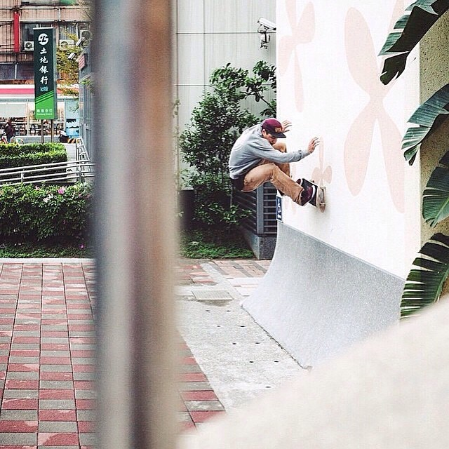 Repost of @stereoskateboards @goinghoff in Taiwan #frontside #stokedmoment