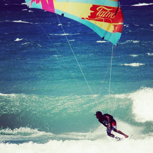 Joselito in the #fulsend #tropical logo tee. #cabarete #kitesurf #starkites #kiteboard #JustSendIt