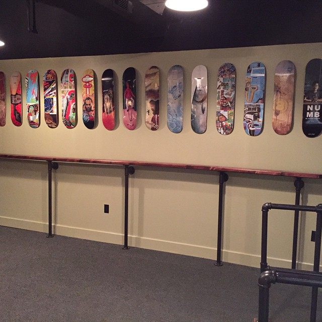 A new art show of Worship decks just went up at Bentley Brewing Co. In their new tasting room. Grand opening is this Saturday til 6pm. Look them up. @bentleybrewing  Its going to be a rad party.