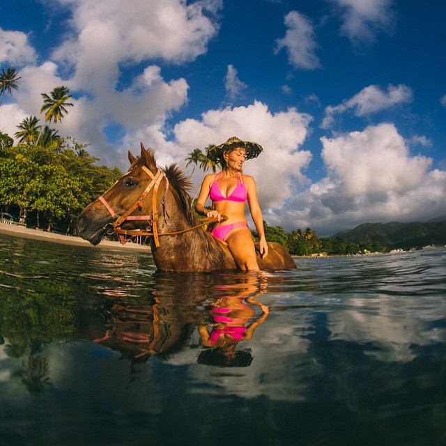 Horsing around on the Caribbean island of Dominica!