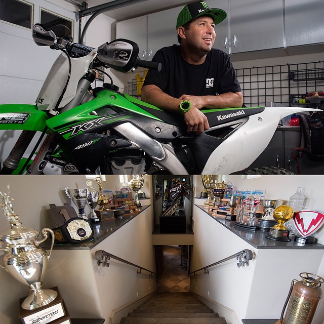 @jeremymcgrath2's trophy case is crowded!  Click the link on our profile page to peep his pad. (