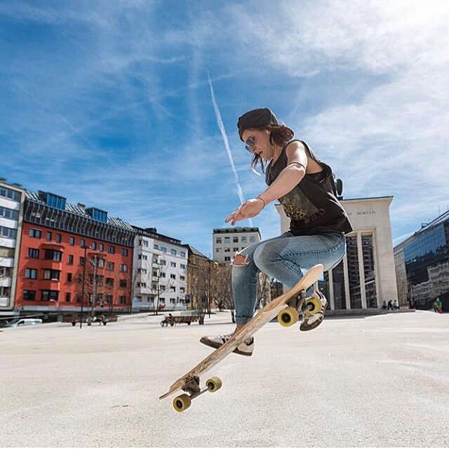 @longskatelui from LGC Austria getting some air. Woo!  #longboardgirlscrew #girlswhoshred #womensupportingwomen #austria #luisahartung