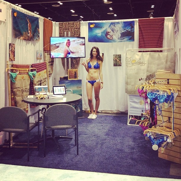 @surfexpo #Booth #2031 Come by and see our #2014 #Collection @annaehrgott @poppyofthesea @carlywi