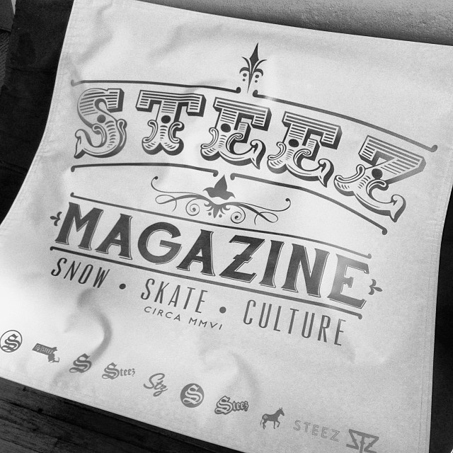 Rad new banner for  @gunstockmtn park shack. #steezmagazine #silverandgold #banner #steez #everysteezlogo