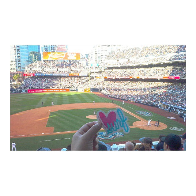 Baseball season is upon us. Who's side are you on? #choosewisely #Padres #petcopark #sandiego #hometown #pride #luvsurf