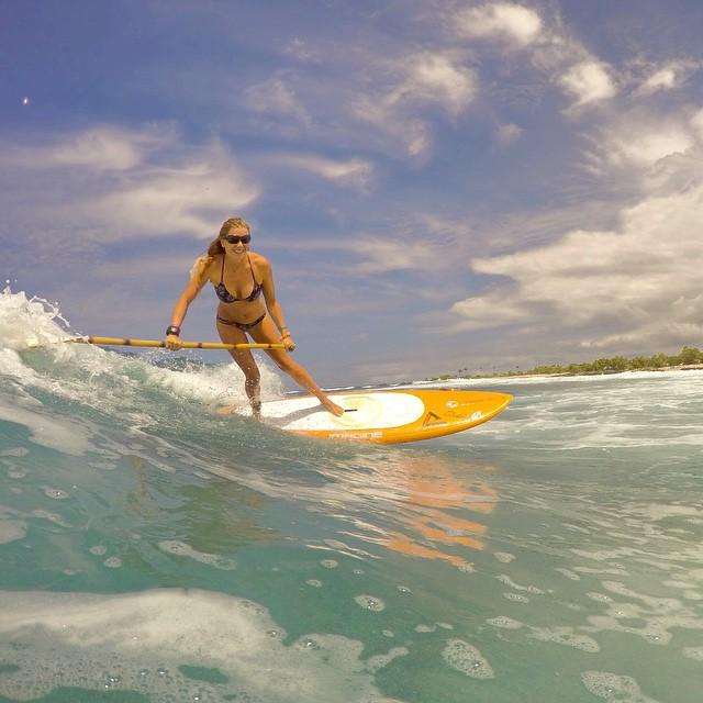 Aloha Friday indeed.  #TeamBioAstin #imaginesurf #Kaenon #OdinaSurf #sirenapearls #futuresfins #lifeinhifi #gopro #standupjournal #ripcurl #wiseguides #bamboopaddle