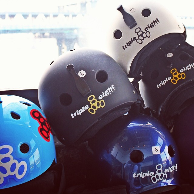 We just got our new helmets and pads for snow season! Thanks to @triple8nyc our youth will be safe on the slopes. #brainsavers #triple8 #actionempowers