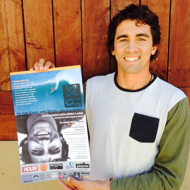 Flip your phone upside down...and you still get to say hello to our big wave surf ambassador Greg Long @gerglong . If you want to say hello in person and here about what's on his mind these days - come to our Earth Day inspired event in San Francisco...