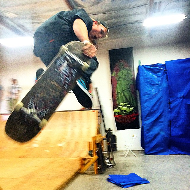 Today's all about going big here at the @muirskate #2015downhilldisco #airwalk #bolts #sendit #sentit