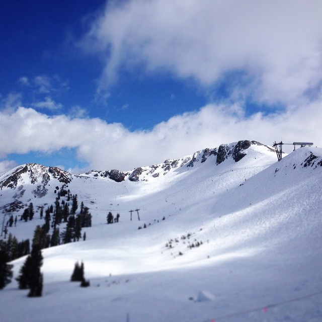 The Palisades where riding nice after the fresh snow #squawvalley #sendit #freeride #thriving