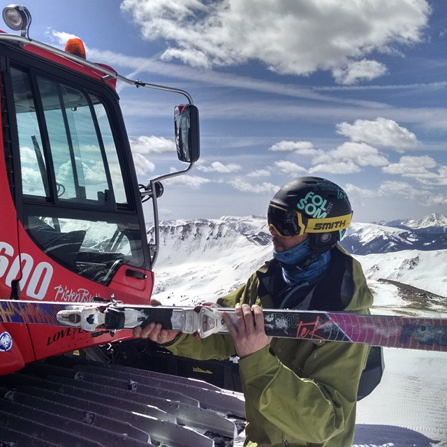 Thanks for the lift @lovelandskiarea. #indietest2015 #trntek #catskiing