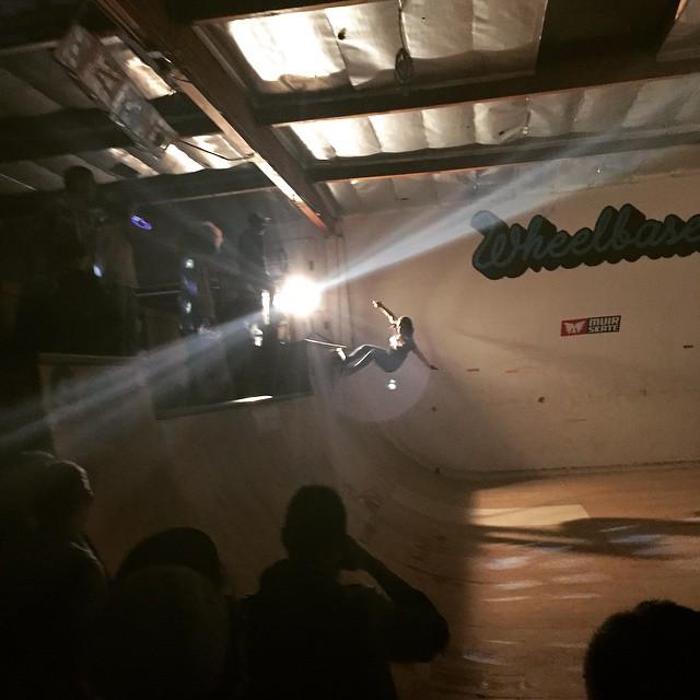 Team rider Yvonne Byers--@yvonzing at last nights Muir Skate Downhill Disco ramp party!  #yvonnebyers #spunk #bonzing #muirskate #downhilldisco2015 #Discosliderbru @muirskate @wheelbasemag