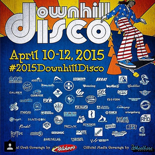 Let's boogie #2015downhilldisco is going down today in San Diego! @muirskate @wheelbasemag @coastlongboarding @mikefitter #predatorhelmets #mikefitterheavyhitter