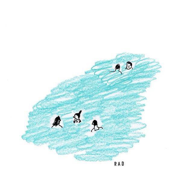 Saturday's sea swim ! By @radillustrates .
