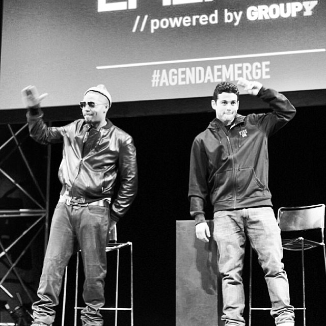 "Regram from @GroupY: #PRod and #Nas take the stage to inspire at Agenda Emerge! ""I love him skating the streets of #NewYorkCity. It's dangerous."" - @nasnyc's response to @prod84's #NikeSB collaboration."
