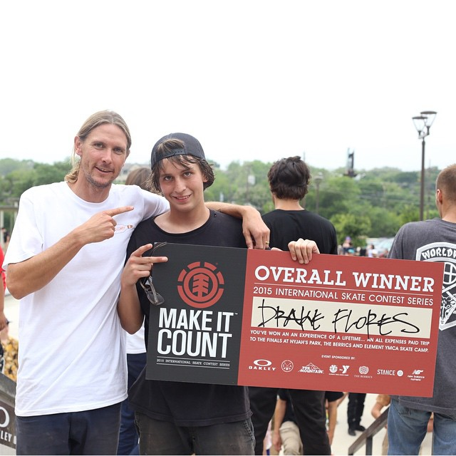 Congratulations to @drakeflores on winning today's #ElementMakeItCount in Austin, Texas! He'll be flying to California this summer to compete with finalists from around the globe for element sponsorship! @elementmakeitcount @_levibrown