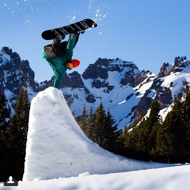 Another rad shot from Jonny (@winterislove) and Tyler (@tylerroemer)...tombstone handplant.