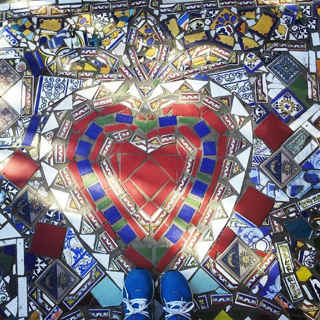 I love Chile  #mosaiquismo #chile #santiago #love #streetoflove #trencadiz