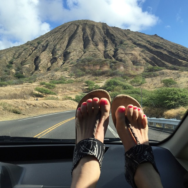 Cruisin around in my @Indosole --- shoes made of recycled moto tires! #soleswithsoul. #sanfrancisco #hawaii #shoplocal