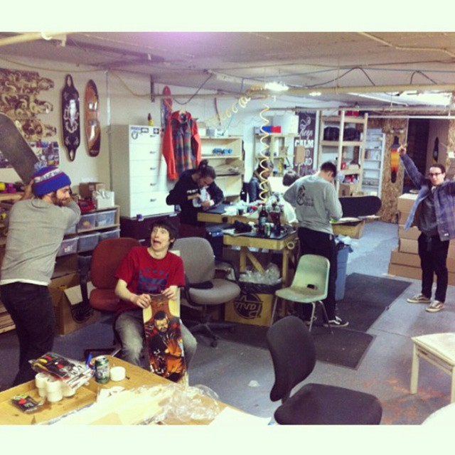 Team meeting yesterday at the warehouse!  The riders left with their new 2015 boards!  All beyond stoked. Photos of them coming soon!