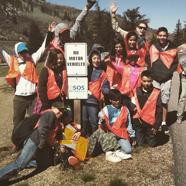 SOS kids had a blast cleaning up the bike path in #EagleCounty!  We love #givingback #dogood #colorado