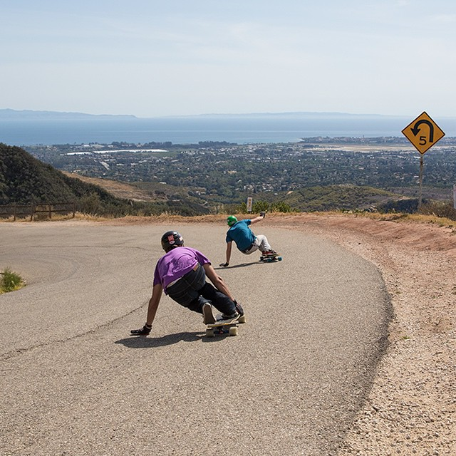 @garrett_creamer and @seanwoolery18 mobbing through the the hills of Santa Barbara yesterday. We're out filming at another spot right now. #socal #california #dblongboards #roadtrip #californiaadventure #californiahills #californiasun #santabarbara...