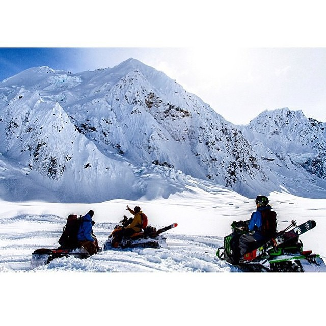 @kyepetersen and his KYE 120s In Search of the goods in Haines.  Photo: @benjamin.webb_ #shapingskiing