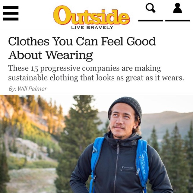 Thanks @outsidemagazine for another incredible shoutout!