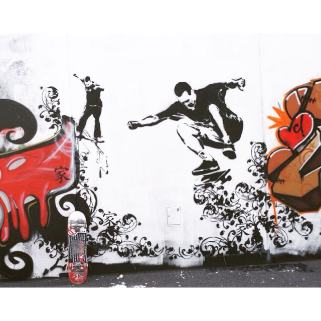 Loving the look of this #skateart #streetart