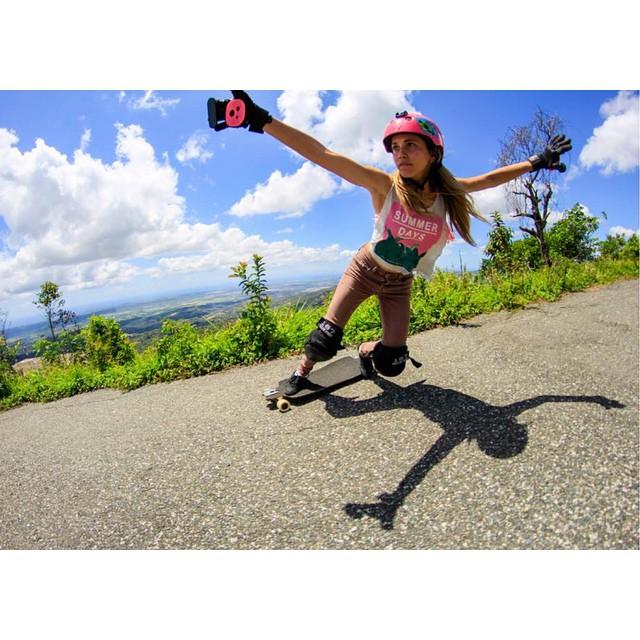 LGC Rep. Dominicana rider @carlafaxass shot by Juan Carlos Paulino @juanca_p. WOAH!  #longboardgirlscrew #womensupportingwomen #girlswhoshred #carlafaxas #republicadominicana #style