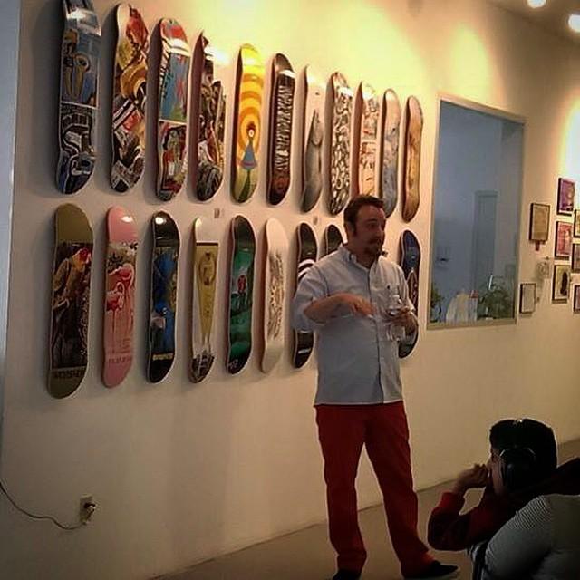#dreamchasers art show presentation. Talk talk talk art art art skate skate skate. #redpants #coolcrowd #alwaysfun
