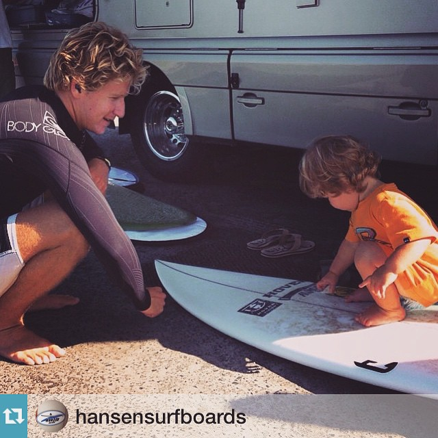 || Start 'Em Young || #hovenvision #trainingdays #surf #surfboard #grom #shaka #neversettle @hansensurfboards