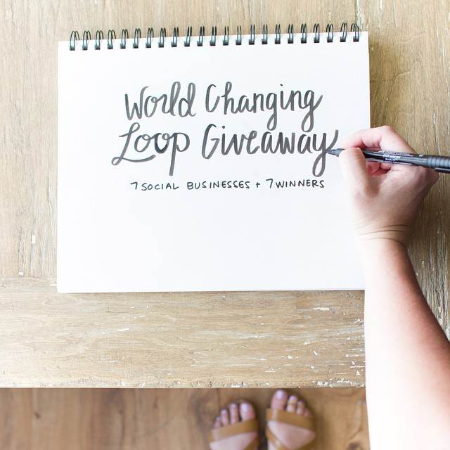 We're joining forces with @puravidabracelets, @theshineproject, @peoplewater, @sevenly, @noondaycollection & @unlockhope for the 'World Changing Loop Giveaway!' We've teamed up with these incredible + impactful brands to help educate our followers on...