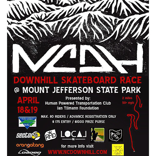 We aren't even giving you an option on this one. Get you butts and boards to this race with @northcarolinadownhill at Mt Jefferson in North Carolina this weekend! It's the first officially sanctioned event in the state and will undoubtedly become a...