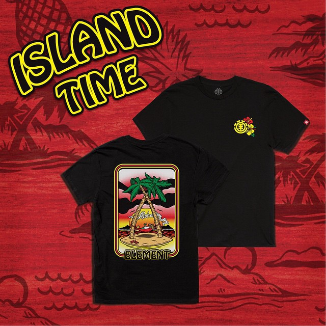Island Time Tees are now available at Elementbrand.com and in skate shops world wide >>> get 'em while they're hot! >>> #elementskateboards