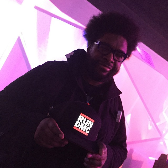Big thanks to @questlove for showing off his custom @Lumativ @officialrundmc #snapback!