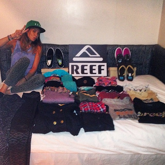 REEF WINTER COLLECTION @sofygrimauu está lista para disfrutar del invierno ✌ ‪#‎reefgirls‬ ‪#‎winter‬ ‪#‎reefteam‬ ‪#‎reefargentina‬