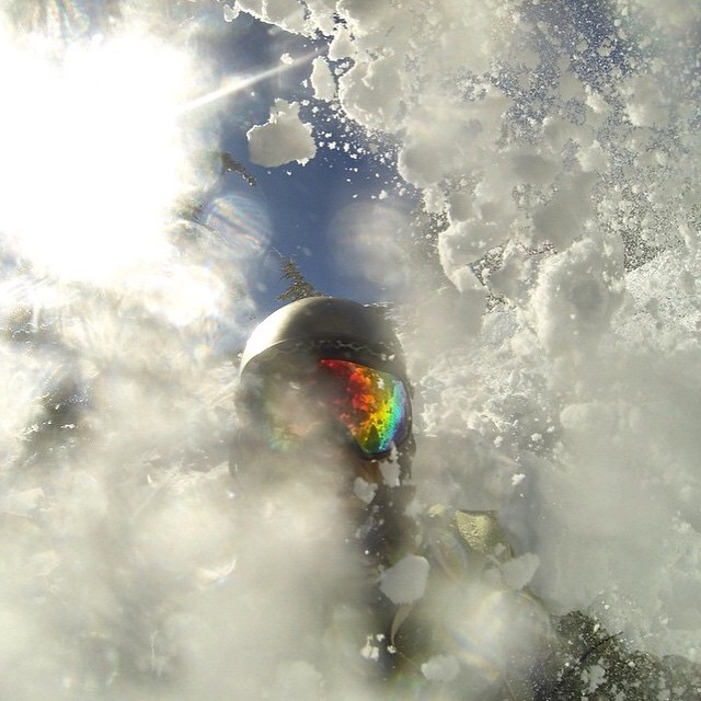 Sent in from @shane.hernandez kicking up powder on #mammothmountain with his new MK. 2 goggles. Hit the slopes while you still can. #powder #picoftheday #staywild #getoutside #freshpow