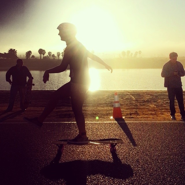 Great way to start your morning! Out in San Diego for the Adrenalina Marathon. #pushculture #sandiego #adrenalinamarathon #california #adrenalina #skateordie