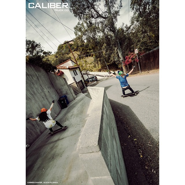 @fillbackside and @carmen_sutra splitting the difference in a SoCal double's run.