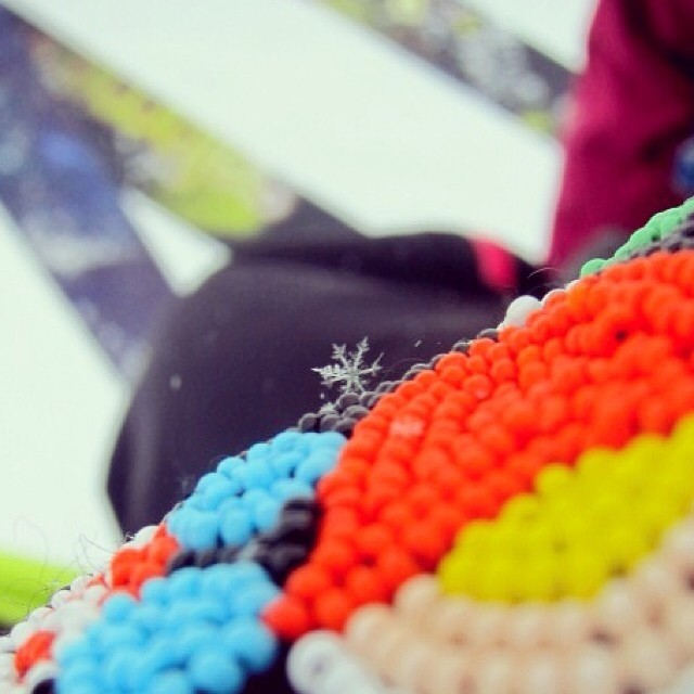 #regram from @kapowder. #lovethis #snowflake