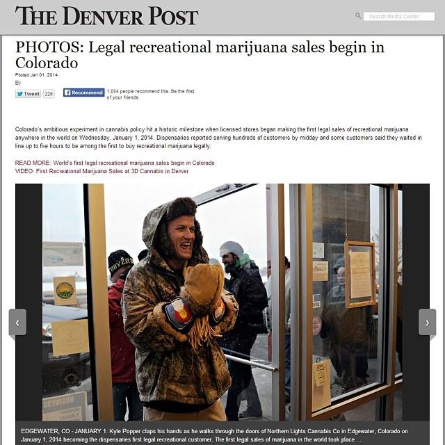 Astis, unknowingly part of #Colorado history. @denverpost