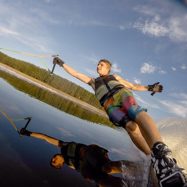 Photo of the Day! Reflection perfection. Photo by @skitrav. #gopro #waterski