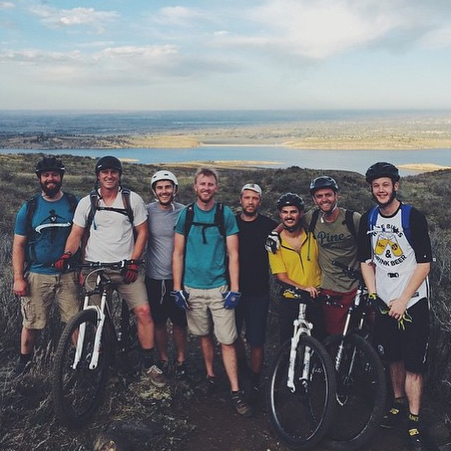 Regram from @william_bender // Eight deep on a Tuesday riparound // #everydayequipment #pinebrand #mtb