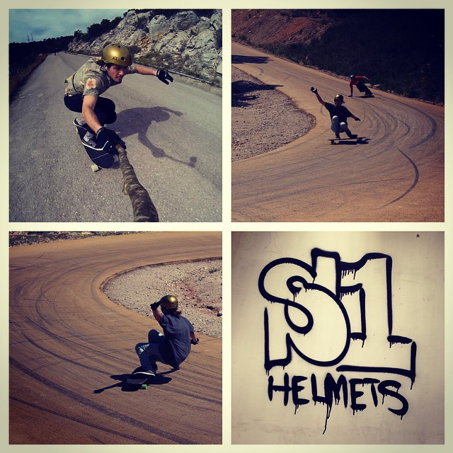 Some photos of elías fabré ferrer in Spain . Elias wears the S1 Lifer Helmet . #s1helmets #eliasferrer #skatespain @fortrate #skatehelmet #halfshellmadness #s1 #lifer #dhskate #downhillskateboarding #alexameen