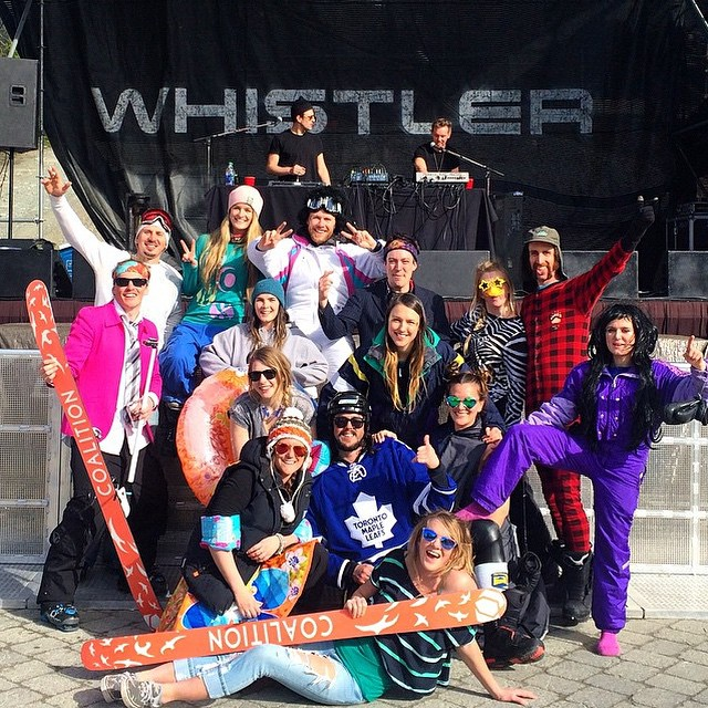 Solid looking crew with @ski_sarah at @whistlerblackcomb today! #sisterhoodofshred #coalitionsnow #whistlermountain