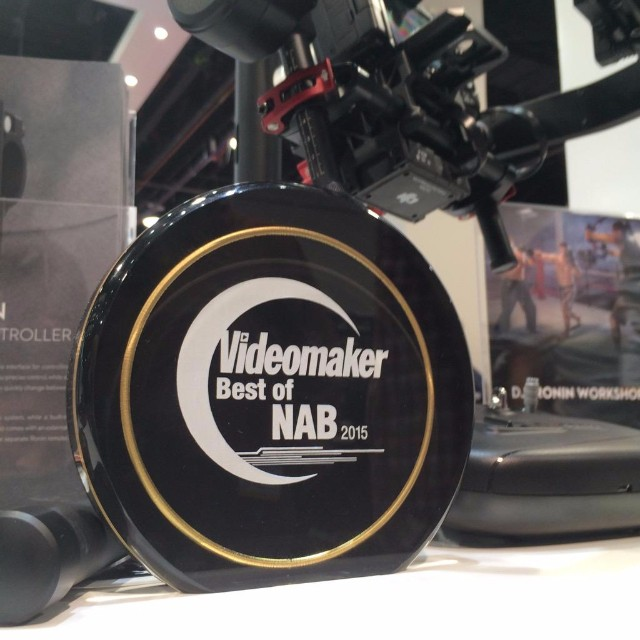 The #DJI #RoninM just won best camera stabilizer from Videomaker Magazine at #NAB!  #nabshow #nab2015 #nabshow2015