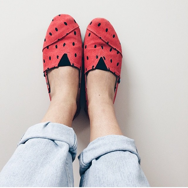 @vanessapolido and our classic #Paez Sandia #Style #watermelon #shoes
