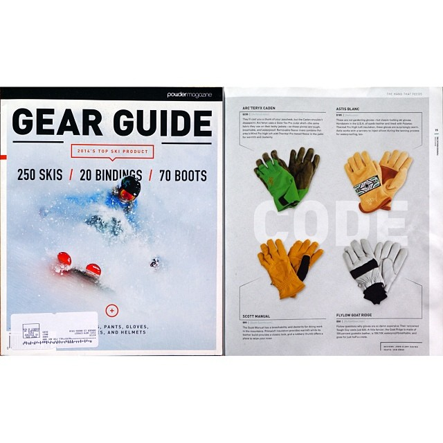 So honored @astis_mittens made @powdermagazine's 2014 Gear Guide!! Check out all our #gloves & #mittens at www.astis.com. #Powder #buyersguide #gearguide #astis #staywarm #staypositive
